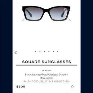 Chanel square sunglasses